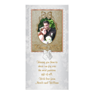 Wedding photo card Thank you from bride and groom