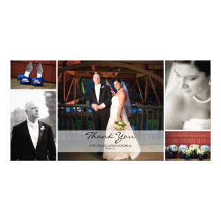 Wedding Photo Collage - Thank You Photo Card Template