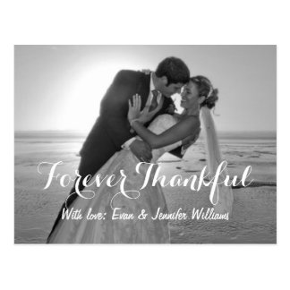 Wedding Photo Forever Thankful Note Cards Postcard
