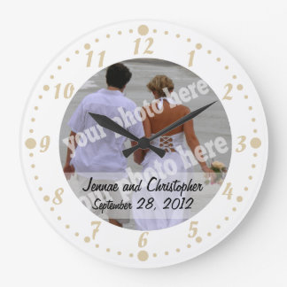 Wedding Photo Frame Wall Clock Personalized Photo