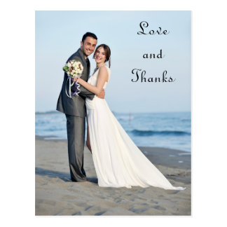 Wedding Photo Love and Thanks - Post Card