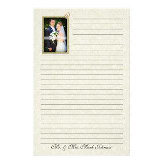 Wedding Photo Personalized Lined Stationery