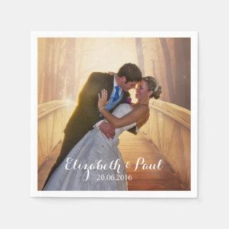 Wedding Photo Personalized Napkin