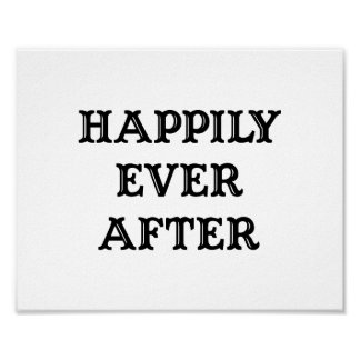 "Wedding photo prop sign ""Happily Ever After"" Poster"