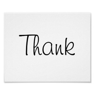 "Wedding photo prop sign ""Thank"" of ""Thank You"" Poster"