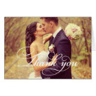 Wedding Photo | Script Thank You Card