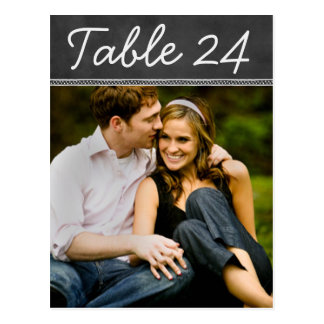 Wedding Photo Table Number Cards   Chalkboard