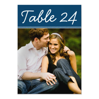 "Wedding Photo Table Number Cards | Custom Template 5"" X 7"" Invitation Card"