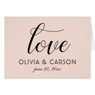 Wedding Photo Thank You | Blush Pink Card