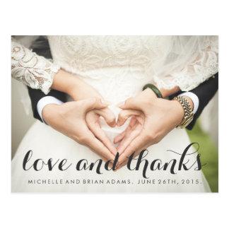 Wedding Photo Thank You Card Postcard