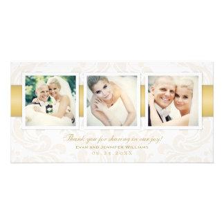 Wedding Photo Thank You Cards | Three Photos Customized Photo Card