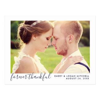 Wedding Photo Thank You | Forever Thankful Postcard