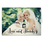 Wedding Photo Thank You Note Cards | Folded Style