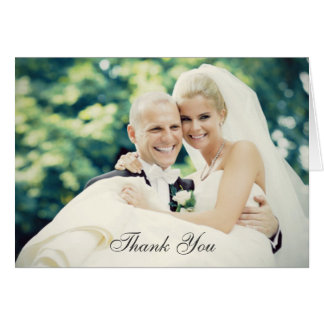 Wedding Photo Thank You Note Cards Folded Style Card