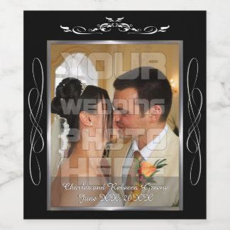 Wedding Photo Wine Label