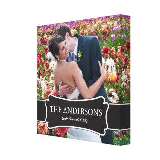 Wedding Photo wrapped canvas