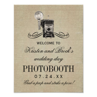 Wedding Photobooth Sign | Vintage Camera Poster