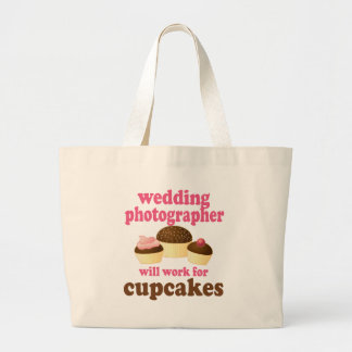 Wedding Photographer (Funny) Gift Large Tote Bag