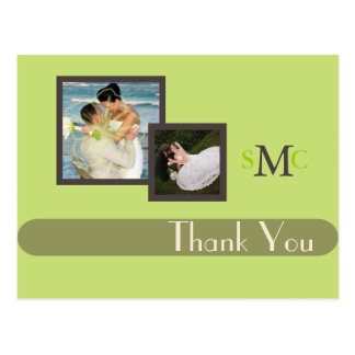 Wedding Photos Thank you postcards, plain Postcard
