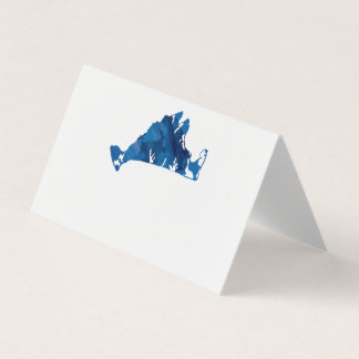 Wedding Place Card Watercolor Marthas Vineyard Map