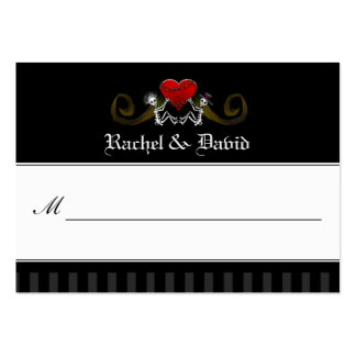 Wedding Place Cards - Skeletons with Heart Large Business Card