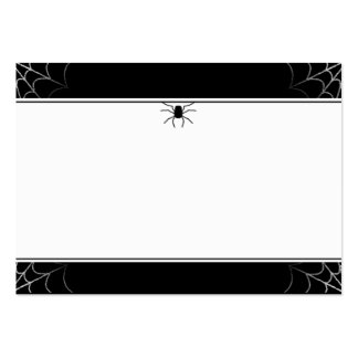 Wedding Place Cards Spider & Web BLANK Large Business Card