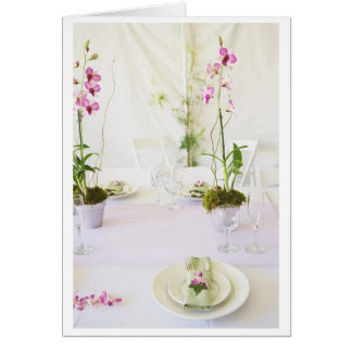 Wedding place setting card