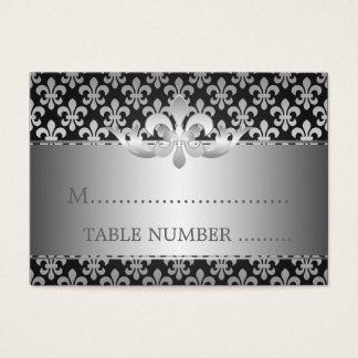 Wedding Placecards Fleur De Lis Black Business Card
