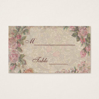 Wedding Placecards Vintage Antique Roses Business Card
