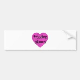 Wedding planner autocollant pour voiture