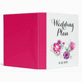 Wedding Planner Binder Watercolor Flowers