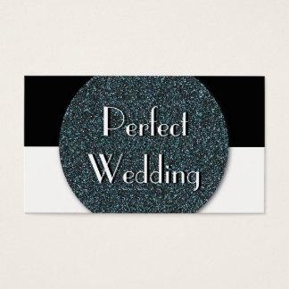 Wedding Planner Business Card Blue Glitter