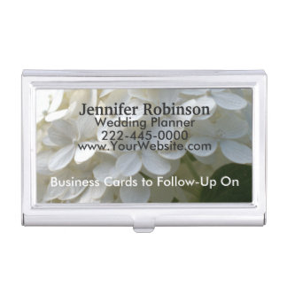 Wedding Planner Cards to Follow-Up White Hydrangea Business Card Holder