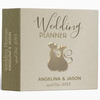 Wedding Planner Cat Couple Golden Elegant Classy Binder