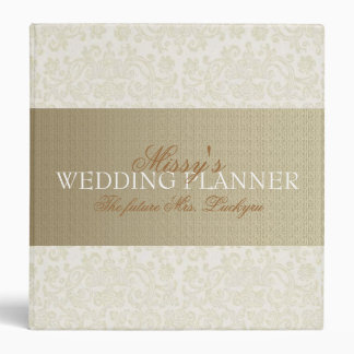 Wedding planner en ivoire de dentelle classeurs 3 anneaux