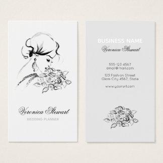 Wedding Planner Fashionillustration Business Business Card