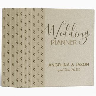 Wedding Planner Golden Floral Elegant Classy Chic Binder