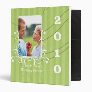 Wedding Planner Lime Striped Your Engagement Photo 3 Ring Binder