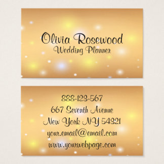 Wedding Planner Modern Bokeh Business Card