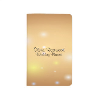 Wedding Planner Modern Bokeh Journal