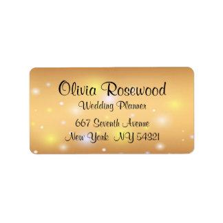 Wedding Planner Modern Bokeh Label