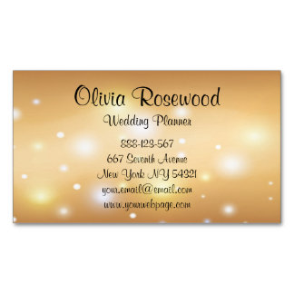 Wedding Planner Modern Bokeh Magnetic Business Card