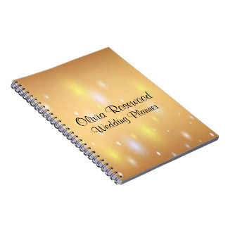 Wedding Planner Modern Bokeh Note Book