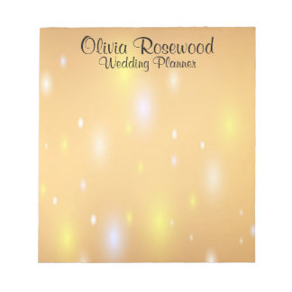 Wedding Planner Modern Bokeh Notepad