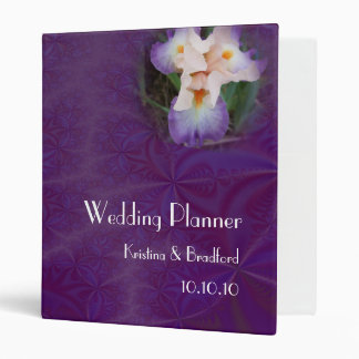 Wedding Planner Peach Iris Avery Binder