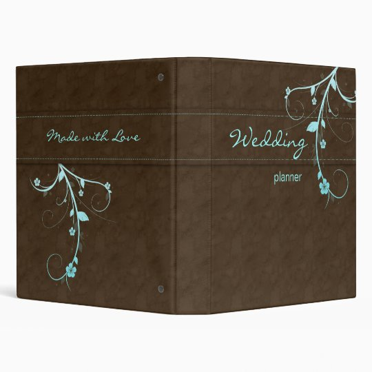 Wedding Planner Photo Binder Organizer Brown