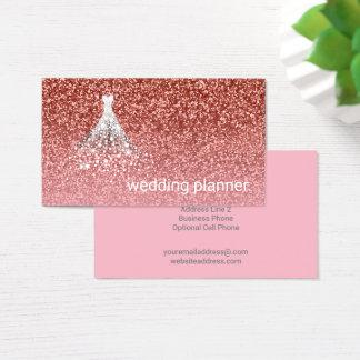 Wedding Planner | Rose Gold Glitter Pink Glamour Business Card