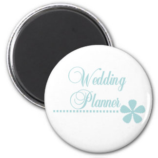 Wedding Planner Teal Elegance 2 Inch Round Magnet