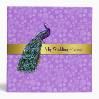 Wedding Planner With Peacock Custom Binder