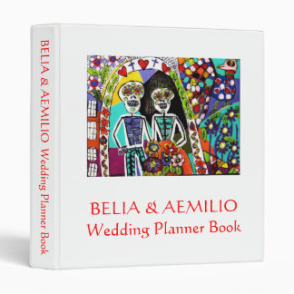 Wedding PlannerBook Day of the Dead Mexican Couple Binder